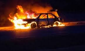 هذه صورة المتهم بحرق سيارتي الحرس الوطني