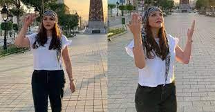 بعد نشرصورها لمساندة فلسطين بية الزردي ترد على منتقديها