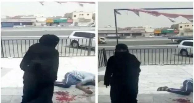 فيديو صادم: سعودية تطعن رجلا في الشارع