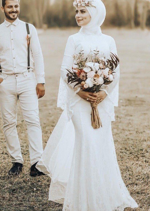 للمحجبات : 20 موديل يلهمك لتفصيل فستان الزفاف