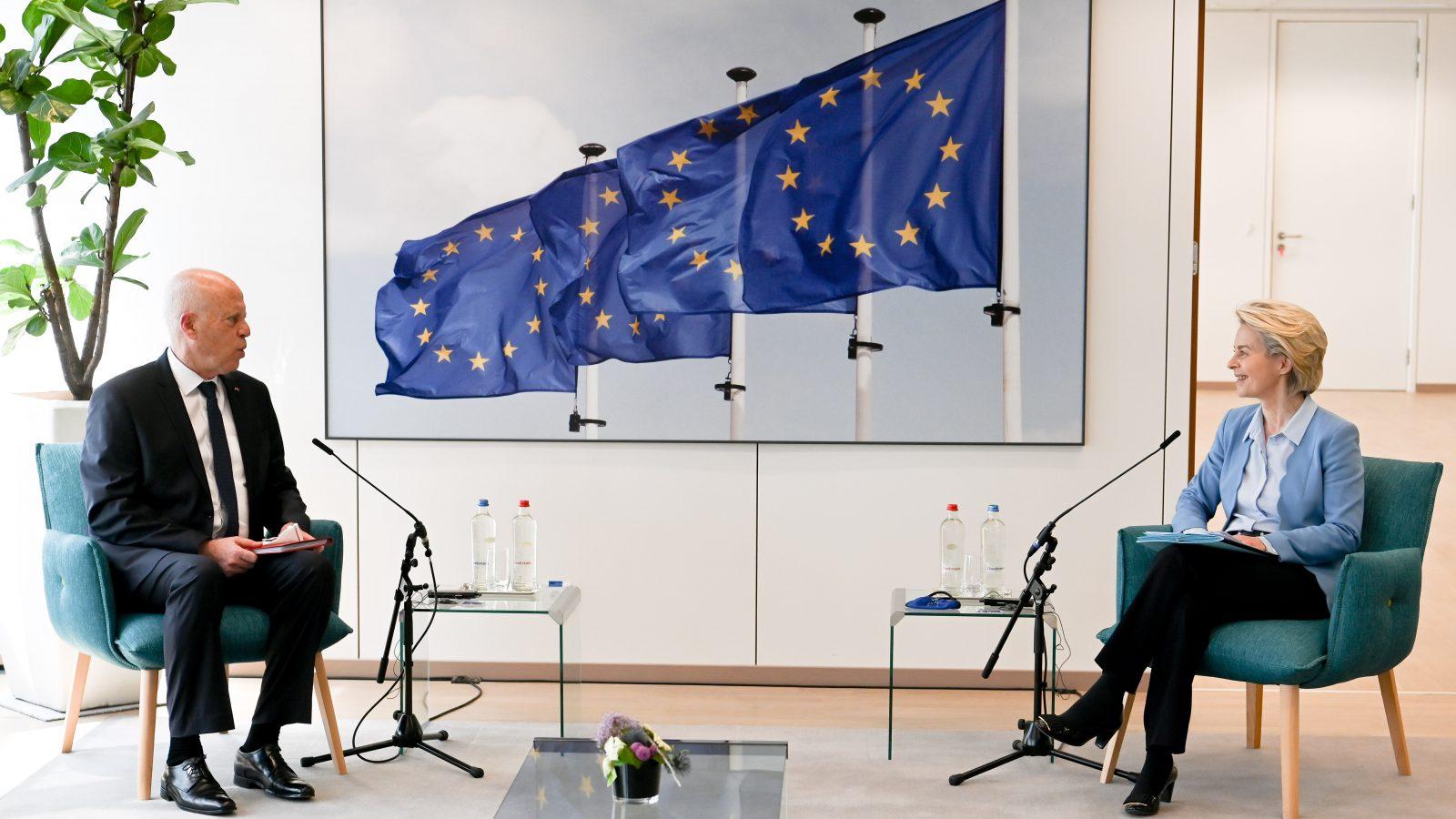 زيارة قيس سعيد إلى المفوضية الأوروبية في صور