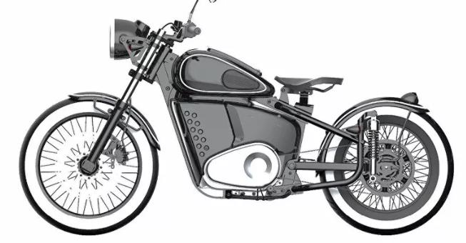 دراجة نارية كلاسيكية بمحرك إلكتروني من صنع كلاشنيكوف