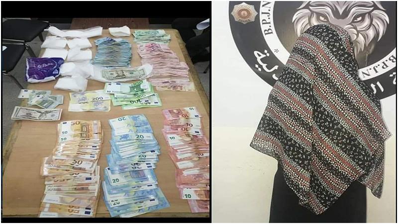 أخفتها داخل حفاظات نسائية / القبض في نابل على  إمرأة حاولت تهريب عملة  اجنبية وتونسية