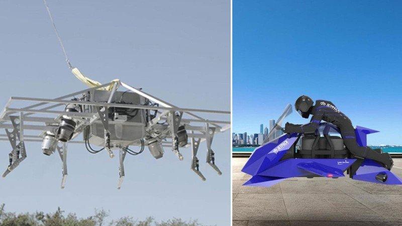 أول دراجة نارية طائرة في العالم (فيديو)