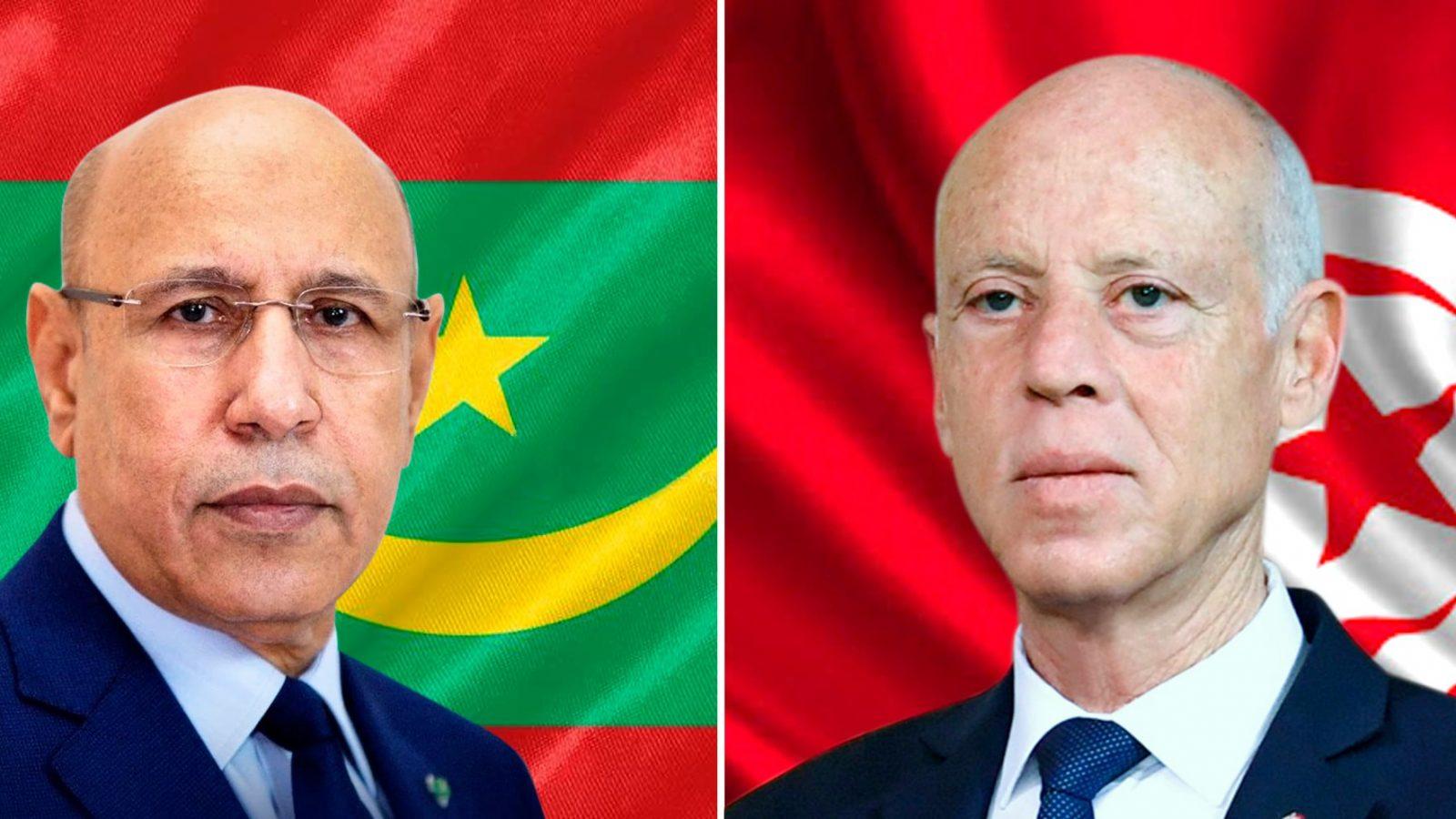 قيس سعيد ورئيس الموريتاني يتبادلان التهاني بمناسبة عيد الأضحى