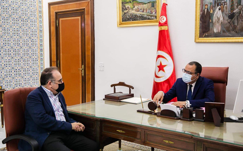 المشيشي يستقبل وزير الصحة بالنيابة