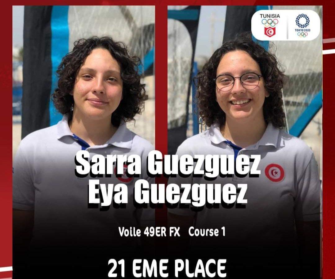 أولمبياد طوكيو /الشقيقتان قزقز تنهيان مشاركتهن في سباق الاشرعة