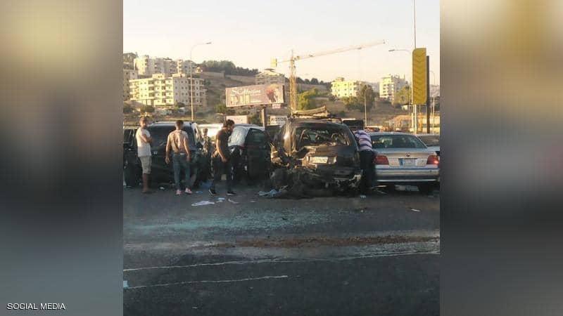 شاهد/ حادث مرور مروع لعدد كبير من السيارات على أحد الطرق السريعة