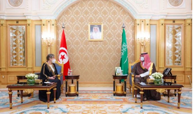 ماذا في لقاء رئيسة الحكومة بولي العهد السعودي؟